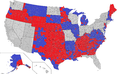 United States Senate election results by county, 2008.png