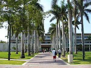 University of Miami - Walkway leading to the Otto G. Richter Library on the campus of the University of Miami