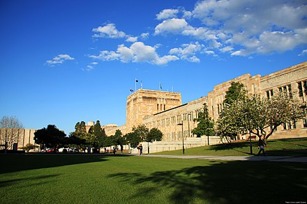 Forgan Smith Building at the University of Queensland's St Lucia campus University of Queensland, Brisbane, Australia.jpg