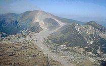 Unzen pyroclastic and lahar deposits.jpg