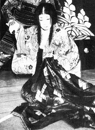 Yodo-dono - Nakamura Utaemon V as Yodo-gimi in the kabuki play Hototogisu Kojō no Rakugetsu