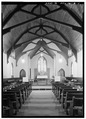 VIEW OF INTERIOR, LOOKING TOWARD ALTAR - St. Paul's Episcopal Church, Chittenango, Madison County, NY HABS NY,27-CHIT,1-4.tif