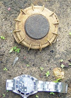 Anti-personnel mine form of land mine designed for use against humans