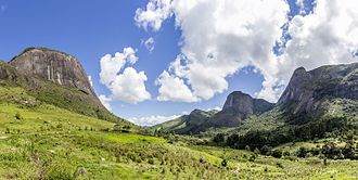 Valley - The Frades Valley in the mountainous region of Rio de Janeiro state, Brazil