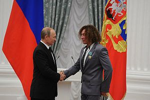 Valery Leontiev - Leontiev receives the Order of Friendship from Russian President Vladimir Putin, 31 July 2014
