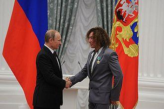 Valery Leontiev - Leontiev receives the Order of Friendship from Russian President Vladimir Putin, 31 July 2014