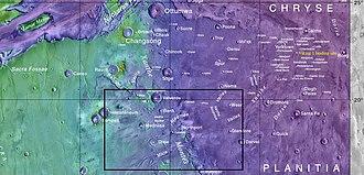 Chryse Planitia - Image: Vallesmaumeevedrabox