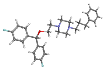 Vanoxerine - Image: Vanoxerine ball and stick