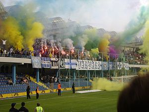 FK Budućnost Podgorica - Varvari at a Montenegrin First League home match