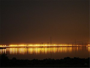 Navi Mumbai - Vashi Bridge across the creek.