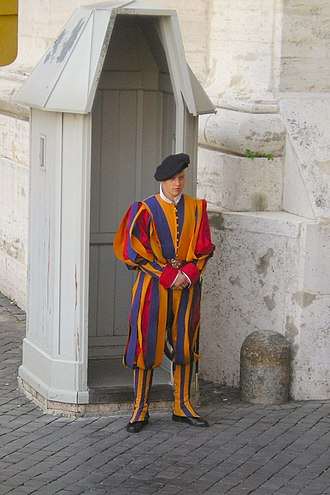 Outline of Vatican City - A Swiss Guard