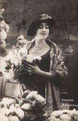 "Vera Karalli - Vera Karalli in ""Krizantemy"" (1914)"