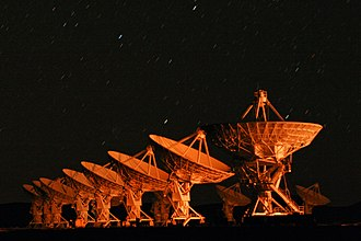 Very Large Array - Image: Very Large Array Nighttime Long Exposure