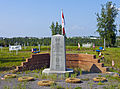 Veterans' memorial in cemetery outside Inuvik, NT.jpg
