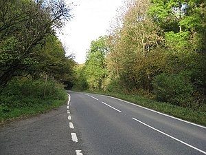 A5012 road - Image: Via Gellia (A5012) Passing through Griffe Grange Valley in the direction of Grangemill geograph.org.uk 1000635
