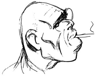 Ioan Alexandru Brătescu-Voinești - Caricature of Brătescu-Voinești by Victor Ion Popa (1934)