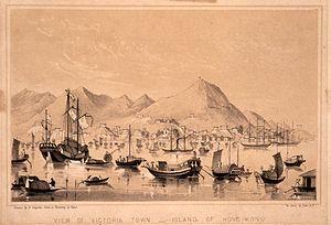 Victoria, Hong Kong - Victoria Town, 1850