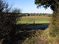 View from bridleway on to the Barfrestone Road - geograph.org.uk - 652227.jpg