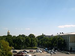 View of Glory Sq from Salut Hotel in Kiev.JPG