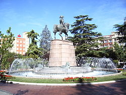 A monument of Baldumero Espartero in Parque del Espoion (Espoion Park)