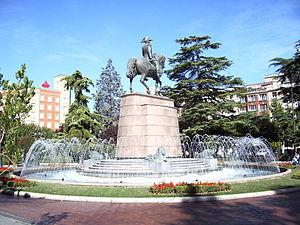 Logroño - A monument of Baldomero Espartero in Parque del Espolón (Espolón Park)