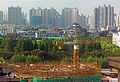 View south from Les Suites Orient Bund Shanghai over Yuyuan Gardens.jpg