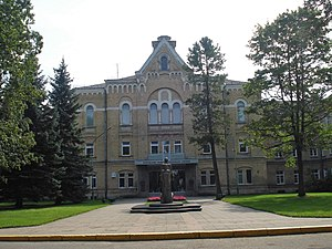 Psychiatric hospital - The Republican Vilnius Psychiatric Hospital in Naujoji Vilnia (Parko g. 15), is one of the largest health facilities in Lithuania; build in 1902, official opening on 21 May 1903