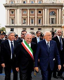 Vincenzo De Luca con Giorgio Napolitano, in visita a Salerno il 14 settembre 2010.