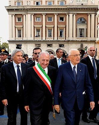 Vincenzo De Luca - De Luca with President Giorgio Napolitano in 2010.