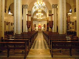 Virgin Mary Greek Catholic Cathedral of Aleppo (interior).jpg