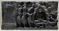 Visit of Sakra to Buddha at Indrasala Cave - Loriyan Tangai - Gandhara - Indian Museum - Kolkata 2012-11-16 1901.JPG