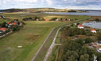 Hiddensee - Aerial photograph between Vitte and Kloster