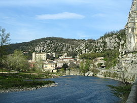View of Vogüé and the Ardèche River