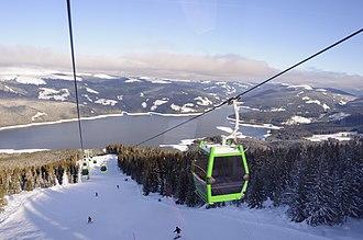 Voineasa, Vâlcea - Ski slope in Voineasa
