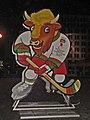 Volat or Valera (official mascot of IIHF WC 2014 Belarus) in Minsk.jpg