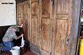Volunteer, Sunday School Room Folding Doors, 1912 Chapel Museum, HCHS restoration project, 2014.jpg
