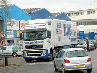 Screwfix - Screwfix Volvo FH distribution lorry in Bristol