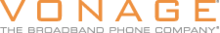 Vonage -The Broadband Phone Company logo until 2006, orange block font over white