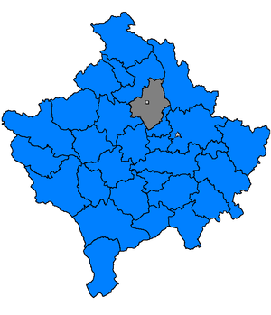Vučitrn massacre - Location of Vučitrn in Kosovo