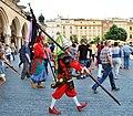 Włóczkowie (Tatar warriors), 2015 Lajkonik fete, Main Market Square, Old Town, Kraków, Poland.jpg