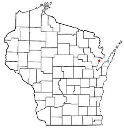 Location of Oconto (town), Wisconsin