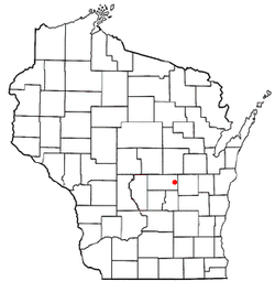 Location of Poy Sippi, Wisconsin