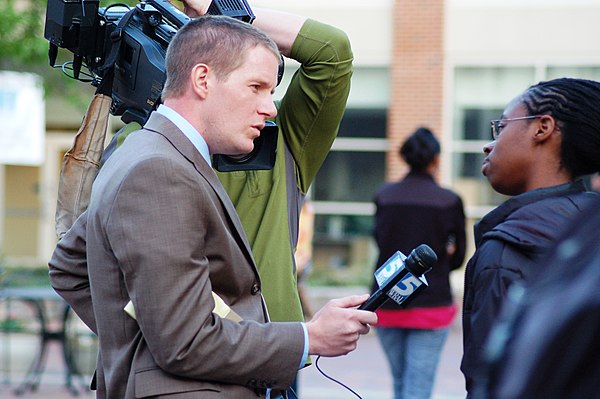 WRAL-TV reporter Adam Owens in Chapel Hill, North Carolina
