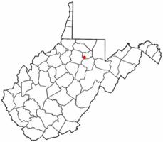 Location of Flemington, West Virginia