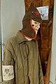 WW2 Nazi Germany railway slave labour. Soviet POW prisoner clothing. Budenovka cap, quilted jacket, Ost Bahn armband, etc. Lofoten Krigsminnemuseum, Norway 2019 DSC00107.jpg