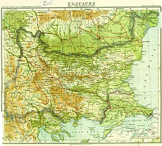 Bulgaria during World War I - Bulgarian campaigns during World War I, borders including occupied territories