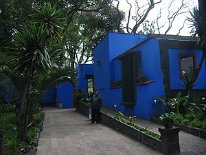 Frida Kahlo Museum - Walkway in the courtyard