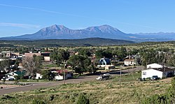 Walsenburg and the Spanish Peaks.