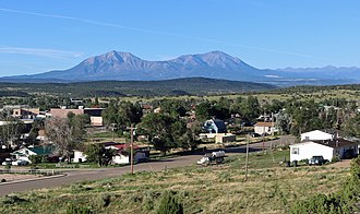 Walsenburg, Colorado - Walsenburg and the Spanish Peaks.