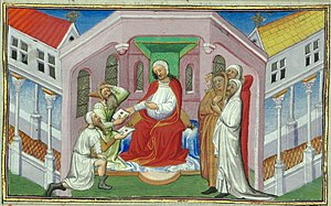"Keraites - Depiction of Wang Khan as ""Prester John"" in Le Livre des Merveilles, 15th century."
